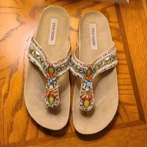 Steve Madden Fiessta Beaded Sandals - 11